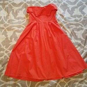 NWOT strapless coral sundress